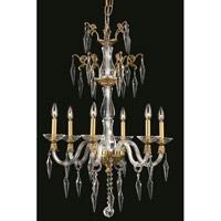 Elegant Lighting 5806D24FG/EC Grande 6 Light 24 inch French Gold Chandelier Ceiling Light in Elegant Cut