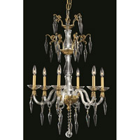 Elegant Lighting 5806D24FG/EC Grande 6 Light 24 inch French Gold Chandelier Ceiling Light in Elegant Cut