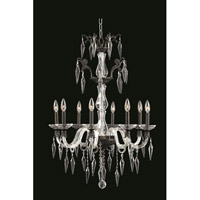 Grande 8 Light 25 inch Dark Bronze Chandelier Ceiling Light in Elegant Cut