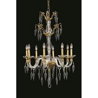 Elegant Lighting 5808D25FG/EC Grande 8 Light 25 inch French Gold Chandelier Ceiling Light in Elegant Cut