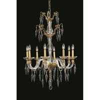 Elegant Lighting Grande 8 Light Chandelier in French Gold with Swarovski Clear Crystal 5808D25FG/SS