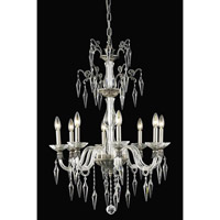 Grande 8 Light 25 inch Pewter Chandelier Ceiling Light in Elegant Cut