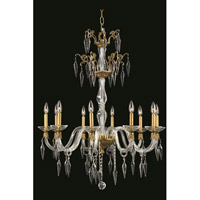 Elegant Lighting Grande 10 Light Chandelier in French Gold with Swarovski Elements Clear Crystal 5810D30FG/SS