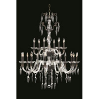 Elegant Lighting Grande 18 Light Chandelier in Dark Bronze with Elegant Cut Clear Crystal 5818G36DB/EC