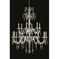 Elegant Lighting 5818G36PW/EC Grande 18 Light 36 inch Pewter Chandelier Ceiling Light in Elegant Cut