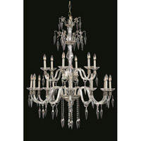 Grande 18 Light 36 inch Pewter Chandelier Ceiling Light in Elegant Cut