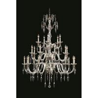 Elegant Lighting 5825G40PW/EC Grande 25 Light 39 inch Pewter Chandelier Ceiling Light in Elegant Cut
