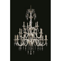Elegant Lighting Grande 25 Light Chandelier in Pewter with Elegant Cut Clear Crystal 5825G40PW/EC