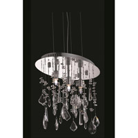 Elegant Lighting Mirage 3 Light Pendant in Chrome with Royal Cut Clear Crystal 5902D14C/RC