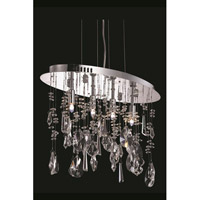 Elegant Lighting Mirage 4 Light Dining Chandelier in Chrome with Royal Cut Clear Crystal 5902D18C/RC - Open Box
