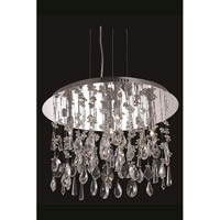 Elegant Lighting Mirage 5 Light Dining Chandelier in Chrome with Royal Cut Clear Crystal 5903D18C/RC