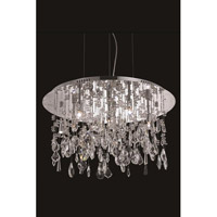 Elegant Lighting Mirage 6 Light Dining Chandelier in Chrome with Royal Cut Clear Crystal 5903D22C/RC - Open Box