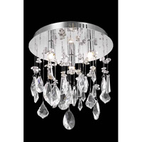 Elegant Lighting Mirage 3 Light Flush Mount in Chrome with Royal Cut Clear Crystal 5903F10C/RC
