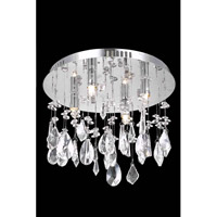 Elegant Lighting Mirage 4 Light Flush Mount in Chrome with Royal Cut Clear Crystal 5903F12C/RC