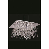 Elegant Lighting Mirage 9 Light Dining Chandelier in Chrome with Royal Cut Clear Crystal 5904D22C/RC
