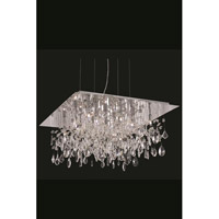 Elegant Lighting Mirage 13 Light Dining Chandelier in Chrome with Royal Cut Clear Crystal 5904D26C/RC