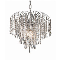 Elegant Lighting V6801D14C/SS Falls 4 Light 14 inch Chrome Pendant Ceiling Light in Swarovski Strass