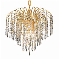 Elegant Lighting Falls 4 Light Pendant in Gold with Royal Cut Clear Crystal 6801D14G/RC