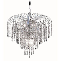 Elegant Lighting Falls 6 Light Dining Chandelier in Chrome with Royal Cut Clear Crystal 6801D19C/RC alternative photo thumbnail