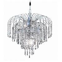 Elegant Lighting Falls 6 Light Dining Chandelier in Chrome with Elegant Cut Clear Crystal 6801D19C/EC