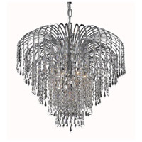 Elegant Lighting Falls 6 Light Dining Chandelier in Chrome with Swarovski Strass Clear Crystal 6801D25C/SS alternative photo thumbnail