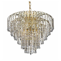 Elegant Lighting Falls 6 Light Dining Chandelier in Gold with Royal Cut Clear Crystal 6801D25G/RC alternative photo thumbnail