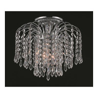 Elegant Lighting Falls 3 Light Flush Mount in Chrome with Spectra Swarovski Clear Crystal 6801F12C/SA alternative photo thumbnail
