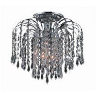 Elegant Lighting Falls 3 Light Flush Mount in Chrome with Elegant Cut Clear Crystal 6801F12C/EC