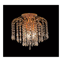 Elegant Lighting 6801F12G/EC Falls 3 Light 12 inch Gold Flush Mount Ceiling Light in Elegant Cut alternative photo thumbnail