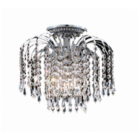 Elegant Lighting V6801F16C/EC Falls 4 Light 16 inch Chrome Flush Mount Ceiling Light in Elegant Cut