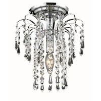 Elegant Lighting 6801F9C/SA Falls 1 Light 9 inch Chrome Flush Mount Ceiling Light in Spectra Swarovski alternative photo thumbnail