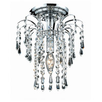 Elegant Lighting Falls 1 Light Flush Mount in Chrome with Swarovski Strass Clear Crystal 6801F9C/SS