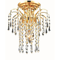 Elegant Lighting 6801F9G/EC Falls 1 Light 9 inch Gold Flush Mount Ceiling Light in Elegant Cut alternative photo thumbnail
