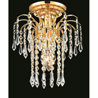 Elegant Lighting Falls 1 Light Flush Mount in Gold with Royal Cut Clear Crystal 6801F9G/RC alternative photo thumbnail