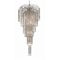 Elegant Lighting Falls 9 Light Foyer in Chrome with Swarovski Strass Clear Crystal 6801G19C/SS