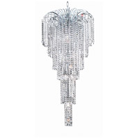 Elegant Lighting Falls 9 Light Foyer in Chrome with Swarovski Strass Clear Crystal 6801G21C/SS