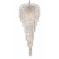 Elegant Lighting Falls 11 Light Foyer in Chrome with Royal Cut Clear Crystal 6801G25C/RC alternative photo thumbnail