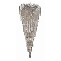 Elegant Lighting Falls 15 Light Foyer in Chrome with Royal Cut Clear Crystal 6801G30C/RC