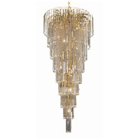 Elegant Lighting Falls 15 Light Foyer in Gold with Elegant Cut Clear Crystal 6801G30G/EC