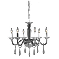 Elegant Lighting Avalon 6 Light Dining Chandelier in Black with Elegant Cut Clear Crystal 6906D23B/EC
