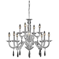 Elegant Lighting Avalon 12 Light Dining Chandelier in White with Elegant Cut Clear Crystal 6912D29WH/EC