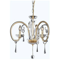 Scroll 3 Light 25 inch Gold Chandelier Ceiling Light