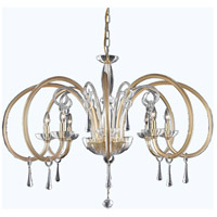 Scroll 8 Light 44 inch Gold Chandelier Ceiling Light