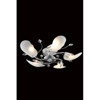 Elegant Lighting Petal 5 Light Flush Mount in Chrome with Elegant Cut Clear Crystal 7445F26C/EC