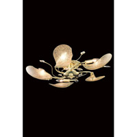 Elegant Lighting Petal 5 Light Flush Mount in Gold with Elegant Cut Clear Crystal 7445F26G/EC