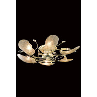 Elegant Lighting Petal 6 Light Flush Mount in Gold with Elegant Cut Clear Crystal 7446F27G/EC
