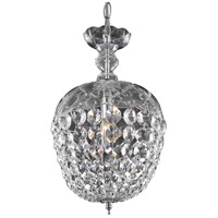Elegant Lighting Rococo 1 Light Pendant in Chrome with Royal Cut Clear Crystal 7801D8C/RC