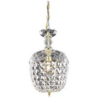 Elegant Lighting V7801D8G/RC Rococo 1 Light 8 inch Gold Pendant Ceiling Light in Clear