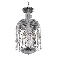 Rococo 3 Light 11 inch Chrome Pendant Ceiling Light in Clear
