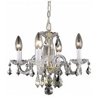 Elegant Lighting V7804D15G/RC Rococo 4 Light 15 inch Gold Dining Chandelier Ceiling Light in Clear